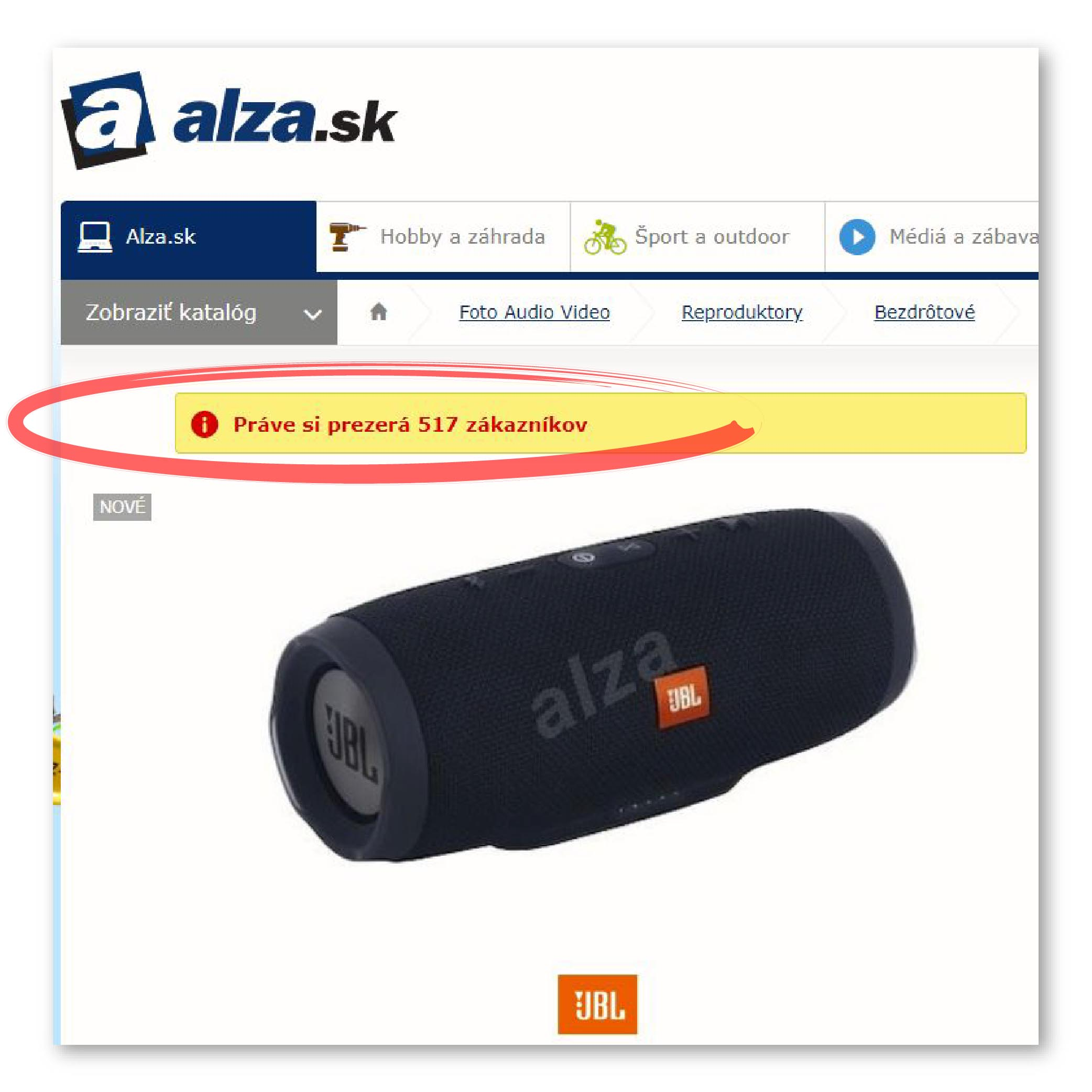 behavioralne principy e-shopu Alza